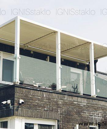 Staklena ograda na terasi